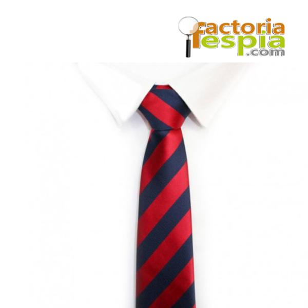 Cámara Espía Inalámbrica oculta en corbata. Cámara con de resolución 380 líneas con lente de 90º.