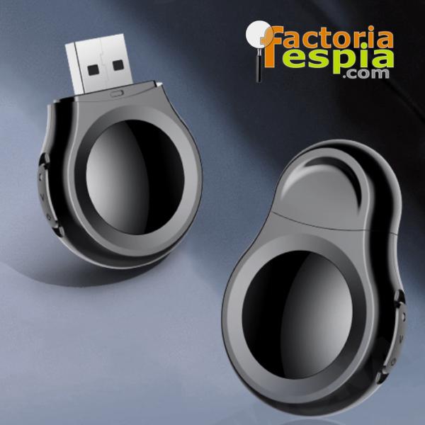 Grabadora de audio y vídeo en miniatura. Cámara con resolución de 1080 p. USB