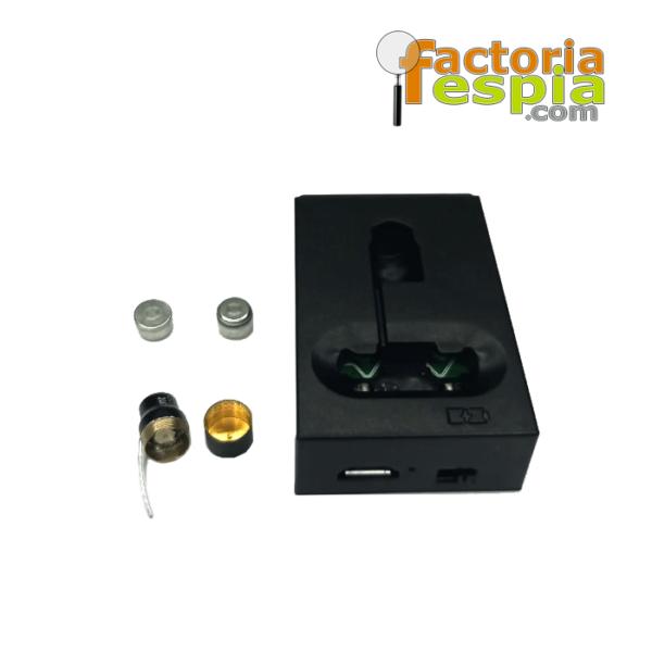 El Pinganillo inductivo espía definitivo. Recargable y sin necesidad de collar de inducción. Pitty-Handset-BT.