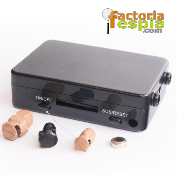 Caja de inducción GSM para pinganillos Pitty Quad band. De 4,5 Vatios. Dimensiones de 53 x 37 x 15mm. 60 cm de radio. De hasta 3 horas de uso continuado.