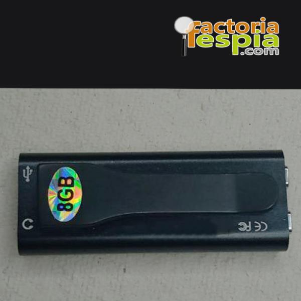 Grabadora Diminuta Pittix recorder de 8GB. 20 Horas de grabación constante. Alta calidad de audio.