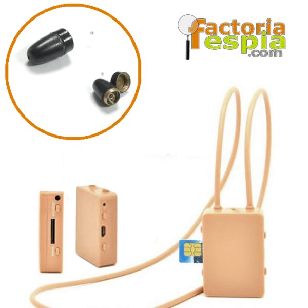 Pinganillo Pitty Black + Collar de Inducción con Teléfono