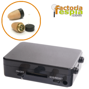 Pinganillo Basic + Caja de Inducción GSM Black