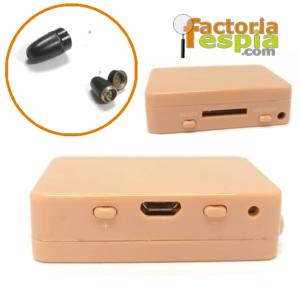 Pinganillo Pitty Black + Caja de Inducción por GSM. ¡Sin necesidad de móvil!