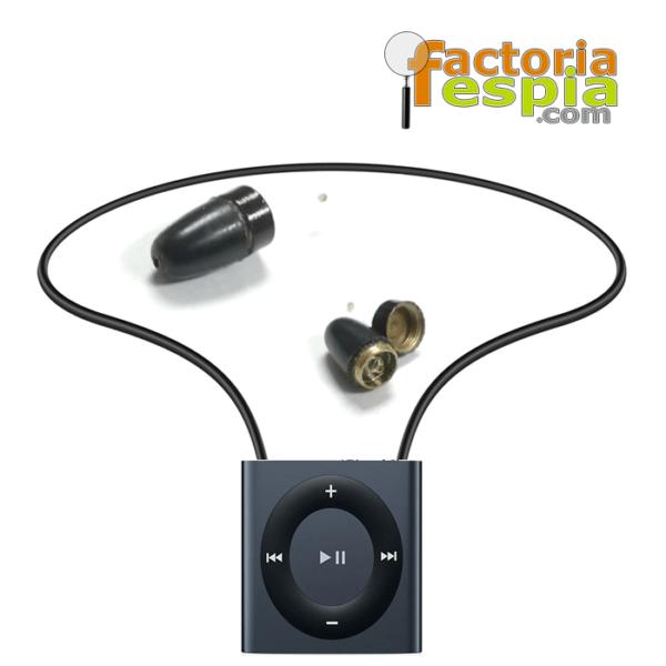 Pinganillo Pitty Black + Collar de Induccion Bluetooth VIP