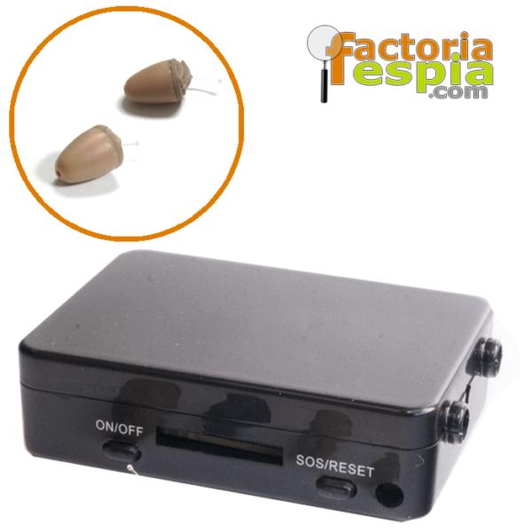 Pinganillo Pitty VIP + Caja de Inducción GSM Black