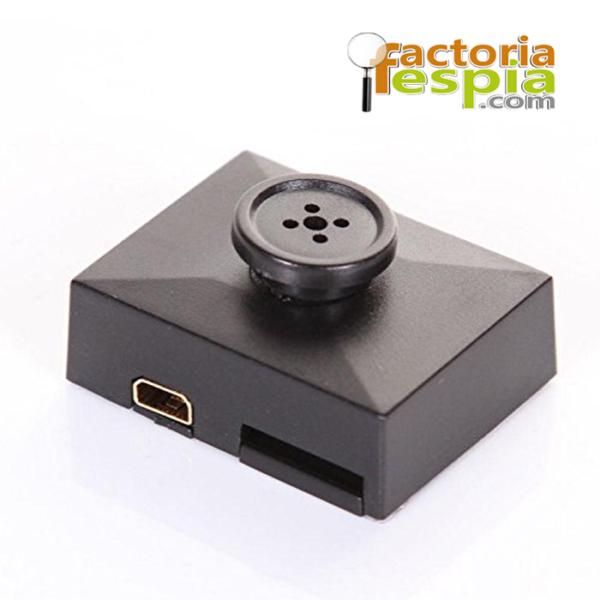 Cámara Espía oculta en botón con detección de movimiento . Cámara con resolución de Full HD 1080 p.